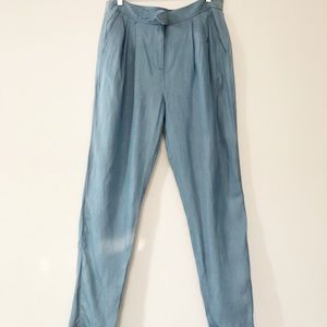 Tibi high waisted pleated tapers pants